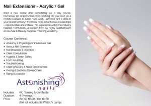 Astonishing Gel & Acrylic Advert Page